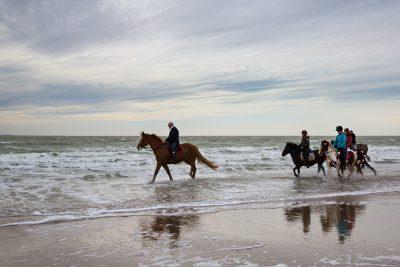 Reiter im Wasser der Nordsee